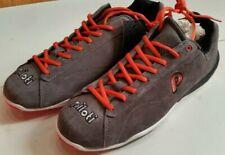 PILOTI Driving Shoes PROTOTIPO Suede Grey / Orange Size 10.5 NEW NOS