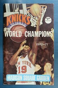 1970-71 New York Knicks Yearbook Official Guide and Record Book World Champions