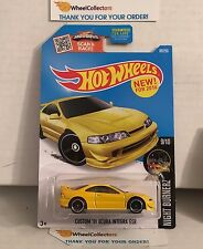 Custom '01 Acura Integra GSR #89 * YELLOW * 2016 Hot Wheels * D26