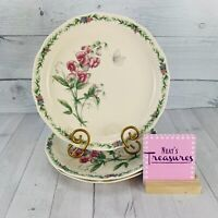 Noritake CONSERVATORY Gala Cuisine Floral Butterfly  Dinner Plates Set of Three