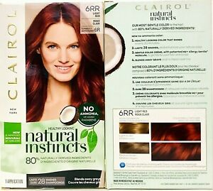 2 Boxes Clairol Natural Instincts 6RR Caribbean Mahogany Light Red Hair Color