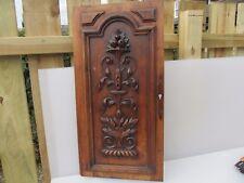 Puerta Placa De Panel De Madera Labrada Vintage Antiguo urna Dorado Hoja Floral de Madera Antigua