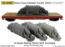 DARK GREY 'Canvas' Tarped Covered Sheeted Model Road & Rail Loads, N, TT