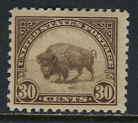 SCOTT 569 1923 30 CENT AMERICAN BUFFALO REGULAR ISSUE MH OG F-VF CAT $15!