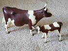 Breyer RARE Ayrshire Cow & Calf Set 1972-1973
