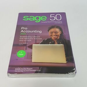 Sage 50 Pro Accounting 2020 (1 User) Bookkeeping Software - New & Sealed