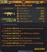 Borderlands 3 Xbox - Modded Nuclear Boom Sickle ASE Radiation Unlimited Ammo