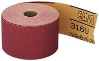 "3M 01687 Stikit Red 2-3/4"" x 25 Yard P120 Grit Abrasive Sheet Roll"