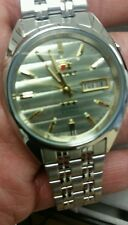 ORIENT MEN' 21 JEWEL AUTOMATIC WATCH.3 STAR CREAM COLOR DIAL(FREE GIFT WATCHES)