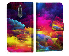 Colorful Cloud Phone Wallet Case Cover For Telstra Nokia 2.1 - A021