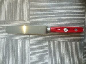 Vintage Prestige RED Plastic Kitchen Utensil PALETTE KNIFE Retro NEW OLD STOCK