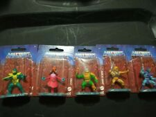 He-man Masters Of The Universe Mini Figures Set Of 5 New On Card Mattel