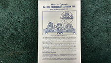 LIONEL # 3650 SEARCHLIGHT EXTENSION CAR W/CABLE REEL INSTRUCTIONS PHOTOCOPY