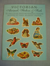 Victorian Animal Stickers & Seals 72 vollfarbig Aufkleber Carol Belanger Grafton