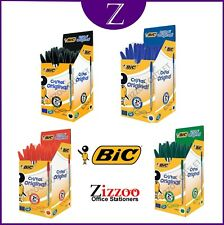 BIC CRISTAL MEDIUM PENS - VARIOUS COLOURS & QUANTITIES (1 - 100) + FREE P&P