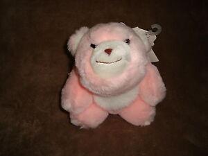 "Gund Snuff Snuffles Bear Pink 6"" Plush 80's Toy W/Tags"