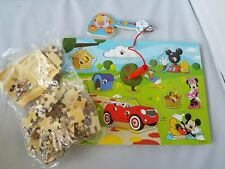 Disney Mickey Mouse Clubhouse Hide & Seek Wooden Magnetic Game Bonus Puzzle