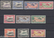 SERIES PRO CROSS RED ESPAÑOLA 339/348 - YEAR 1926 - FULL AND WITHOUT STAMP