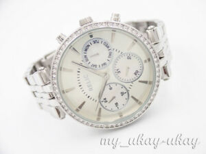 RELIC by Fossil ZR15732 Multifunction Crystal Silver Tone Bracelet Ladies Watch