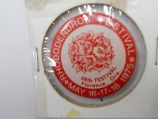 *VINTAGE* 68th Rhododendron Festival Event Pin 1975 (HARD TO FIND) Check it out!