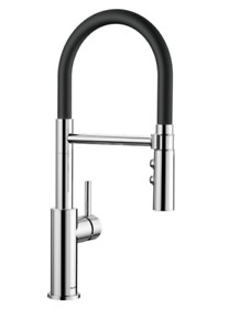 BLANCO CATRIS-S PULL OUT KITCHEN TAP CHROME/BLACK HIGH PRESSURE RRP £400