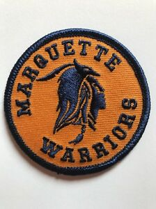 """Marquette """"Warriors"""" Golden Eagles Vintage Embroidered Iron On Patch 3"""" X 3 NICE"""