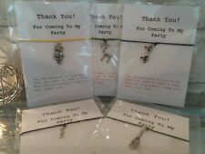 Party Bag Wish Bracelets - Harry Potter / Wizard Witch ⭐Thank You cards ⭐5 Pack⭐