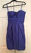 Max and Cleo Strapless Cocktail Dress Color Sapphire blue Size  2 $138.00 NEW