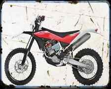 Husqvarna Te 449 A4 Metal Sign Motorbike Vintage Aged