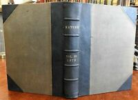 Nature: Weekly Illustrated Scientific Journal May - October 1879 leather book