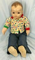 Vintage Hard Plastic Head Ideal Doll Made in USA Restored Doll Cloth Body 28""