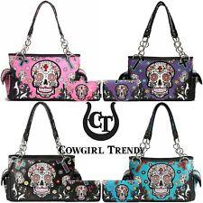 Sugar Skull Day of the Dead Purse Women Handbag Fashion Shoulder Bag / Wallet