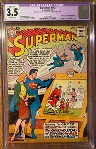 Superman #162 CGC 3.5 OWP Restored (C-1) (1st Superman-Red/Superman-Blue)