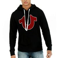 True Religion Horseshoe Chenille Pullover Men's Hoodie - Black