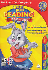Reader Rabbit READING LEARNING SYSTEM Ages 4-7 Early Skill Building PC Game NEW!