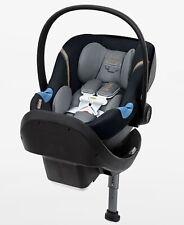 Cybex Aton M Infant Car Seat W Safe Lock Base - Lavastone Black