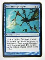 MTG Magic Cards: PEER THROUGH DEPTHS # 10G12