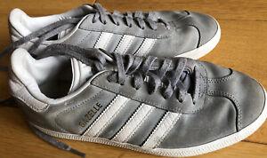 Adidas Light Grey Gazelles Size 5