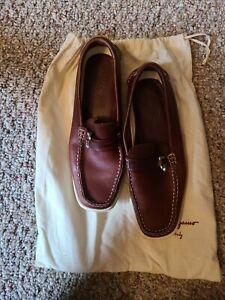 Salvatore Ferragamo Shoes Size 7 Brown With White Sole