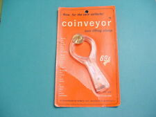 Vintage Bemco Coinveyor Coin Lifting Clamp With 1964 D Lincoln Penny Nip