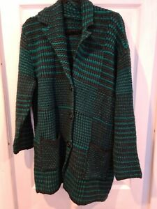 Stunning Desigual Knitted Coat ~ Green ~ NWT • SOFT ~ Size XL 14 16