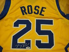 DERRICK ROSE PSA/DNA SIGNED SIMEON HIGH SCHOOL #25 JERSEY CERTIFIED AUTOGRAPHED