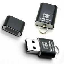 USB 2.0 Mini Size Micro SD T-Flash Card Reader Adapter up to 480Mbps Black&Rose