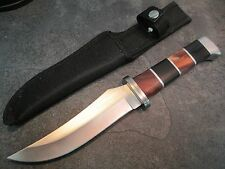 JEWELED HANDLEHunting Survival Rescue Knife Stainless Blade Wood Handle