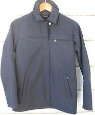 Nike Sphere Wms XS 0 2 Black Soft Shell Jacket Coat Zip Front Lower Hip Length