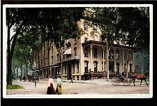 1904 street scene Worden Hotel Saratoga New York postcard