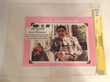 CGC 9.8 SS The Royal Tenenbaums German Lobby Card signed Gene Hackman 2001 10x8
