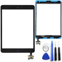 OEM Black Touch Glass Digitizer Screen Home Button W/ IC Connector iPad Mini 1 2