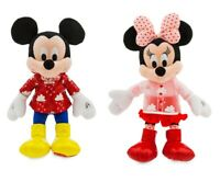 Disney Authentic Mickey & Minnie Mouse Valentines Day Heart Plush Toy 2pc Set