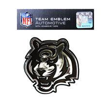Promark New NFL Cincinnati Bengals Plastic Chrome 3-D Auto Emblem Sticker Decal